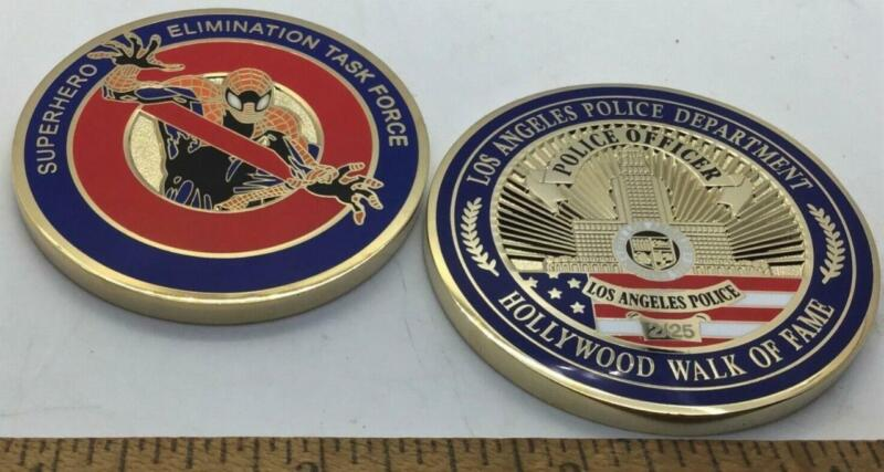 challenge coin  lapd  Spiderman police