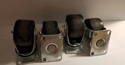 3 Caster Wheels 3 X 1 34 Lot Of 4