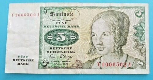 German 5 Deutsche Mark 2 Januar 1980