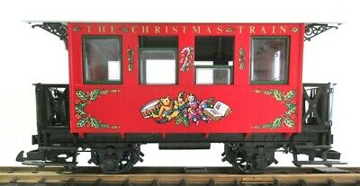 "LGB THE CHRISTMAS TRAIN RED PASSENGER CAR ""THE RED SET"" NEW"