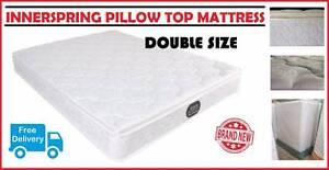 BRAND NEW Double Size Bed Ensemble - Pillow Top Mattress + Base