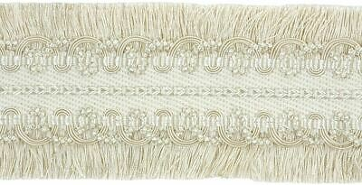 "HOULÈS Braid 90mm (3""1/2 ), Ivory color, Valmont 32620-9010 Luxury Trimming"