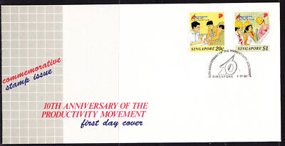Singapore 1991 10th Anniv Productivity Movement First Day Cover