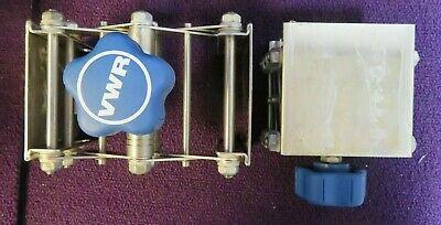 Lot Of 2 Vwr Lab Lift Table Jack Lifting Platform Scissor Lift 3x3 -used