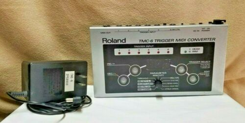 ROLAND TMC-6 TRIGGER MIDI CONVERTER WITH POWER SUPPLY MADE IN JAPAN