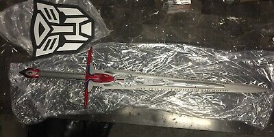 "49"" Sword of Judgment Optimus Prime Transformers 1:1 Scale Full Metal W/Plaque"