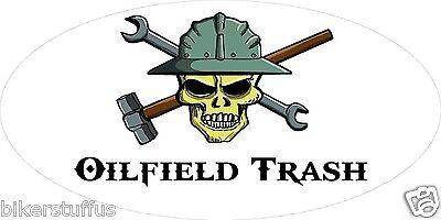 Oilfield Trash Skull Helmet Sticker Hard Hat Sticker Toolbox Sticker Laptop