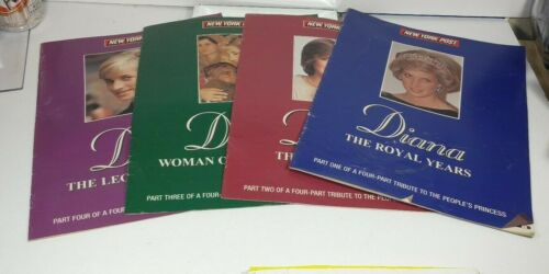 1998 NEW YORK POST SUPPLEMENTS PARTS 1-4 DIANA THE ROYAL YEARS TRIBUTE