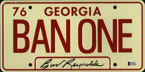 Burt Reynolds Signed Smokey and the Bandit License Plate Ban One Beckett BAS