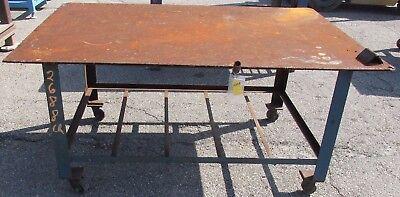 Steel Table Welding Work Bench On Wheels 2688lr