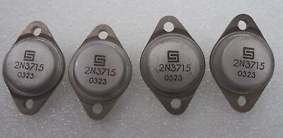 Npn High Power Silicon Transistor Lots Of 4 Pn 2n3715
