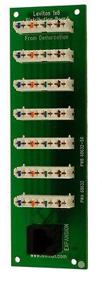 (Leviton 47609-0F6 1 x 6 4-Line Bridged Telephone Expansion Board)
