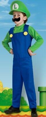 Super Mario Bros LUIGI Costume Child Size 4-6 Small World of - Mario World Kostüm