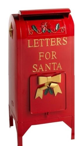 25 Inch Tall, Letters to Santa Metal Christmas Mailbox, Fully Functional