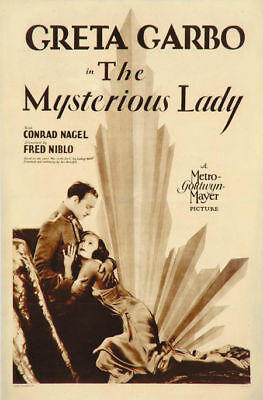 The Mysterious lady Greta Garbo vintage movie poster  - Lady Movie Poster