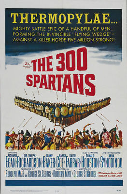 The 300 Spartans Richard Egan vintage movie poster print #21 - The 300 Movie