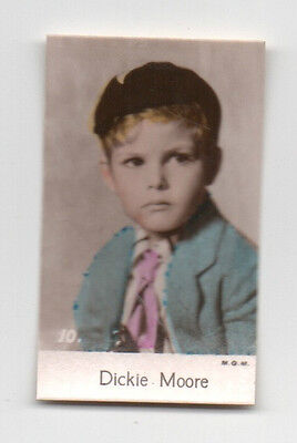 Dickie Moore 1935 Bridgewater Cookies 4th Series Film Star Card  #10