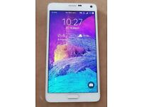 Brand new Samsung galaxy note 4 32GB WHITE UNLOCK TO ANY NETWORK