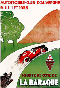 Automobile-Club-of-France-1933-DAuvergne-Car-Motorcycle-Advert-A3-Art-Print