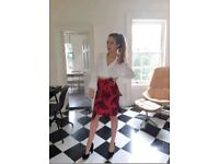 H&M Camo Red skirt size 10 / 36