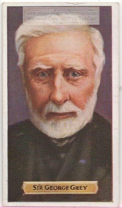 Sir George Grey South Australia New Zealand Cape Colony 80+ Y/O Trade Ad Card