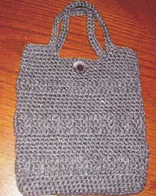 (Crochet Pattern ~ POST STITCH RIBBED PURSE ~ Instructions)