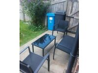Modern 4 seater melbourne garden/patio set