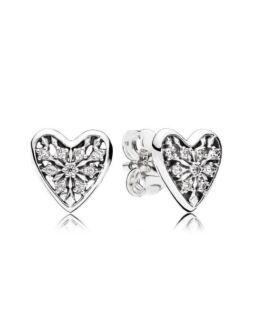 Pandora Hearts of winter earrings brand new