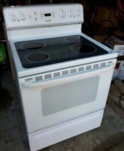 Self clean glass top electric stove