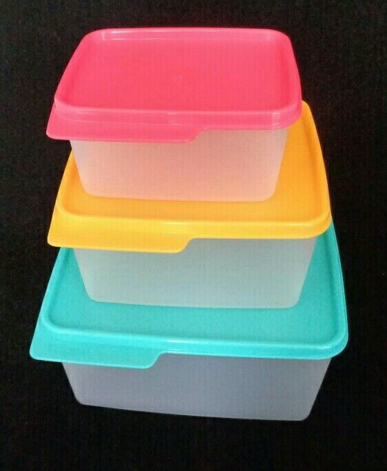Tupperware Keep Tabs 3pc Set Nesting Storage Containers Brig