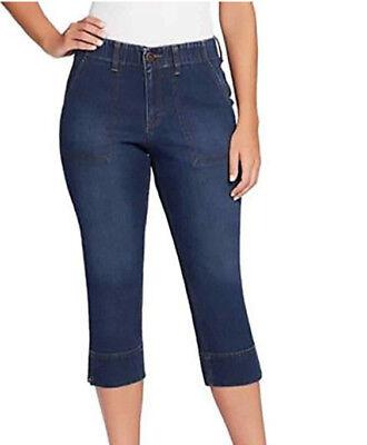 GLORIA Vanderbilt Ladies' Rhea Capri Stretch Denim Jeans Blue Size 6 Scottsdale ()