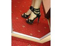 Black strappy heels size 6