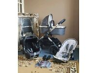 Icandy peach 2016 truffle 2 single pushchair with carrycot and maxi cosi car seat