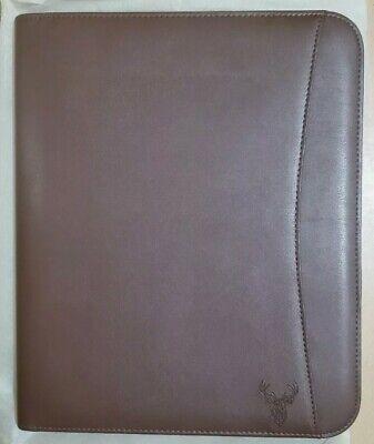 Wundermax Padfolio Portfolio Vegan Leather Binder With Tablet Pocket