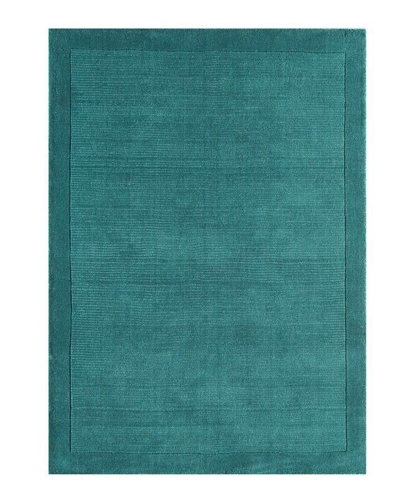 Brand New XL Teal Blue 100% wool rug