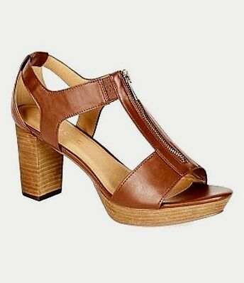 CITY CHIC Shoes sz 6.5 / 37 VERVE Heel tan faux-leather sexy BNIB