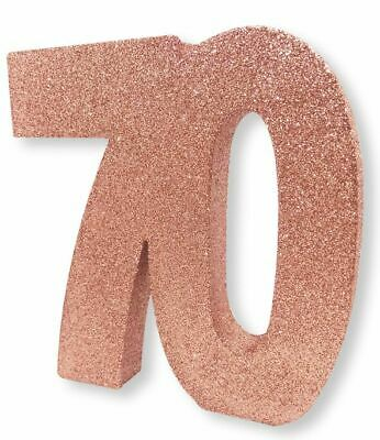 Rose Gold Glitter Table Decoration 70 Years 8