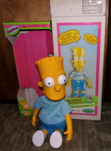 """VINTAGE 20"""" TALKING BART SIMPSON 1990 BY DANDEE IN ORIGINAL BOXES. WORKS PERFECT"""