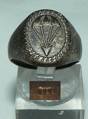 Bundeswehr 1. Luftlandedivision 1960 Silber-Ring >>sehr selten<< Gr. 59 (da4455)