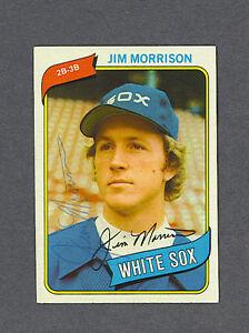 jim morrison signed chicago white sox 1980 topps card ebay. Black Bedroom Furniture Sets. Home Design Ideas