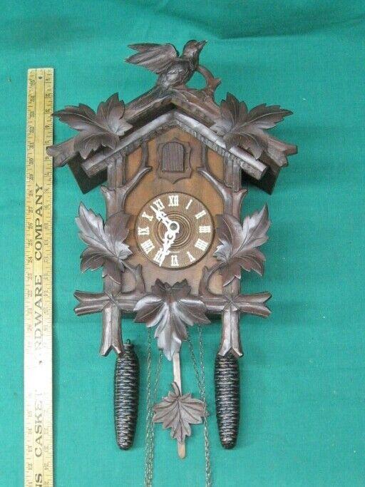 Rare Gebr. Lehnis of Hornberg Black Forest Cuckoo Clock 30 Hour Circa 1900-15