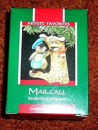 "1989 HALLMARK ORNAMENT  ""MAIL CALL""  QX4522"