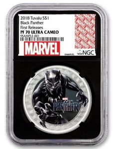 Silver BLACK PANTHER Coin - NGC PF70 UC First Releases