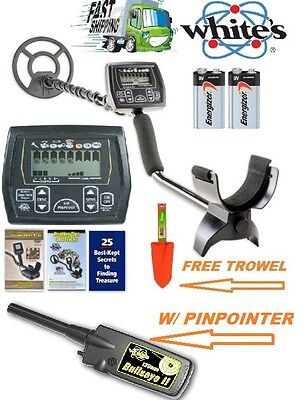 "Whites Coinmaster Metal Detector with Waterproof 9"" Coil Pinpointer & Trowel"