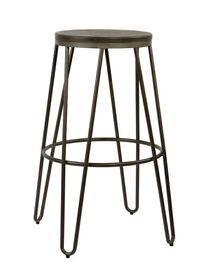 Industrial, vintage style bar stool, set of 3