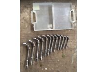 Full set of Bahco right-angled box spanners