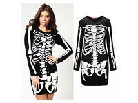 Women's Sexy Halloween Skeleton Dress