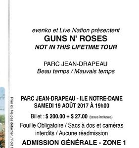 GREAT OFFER 2 GUNS AND ROSES GA1 PLUS, VIP BOOK NEW