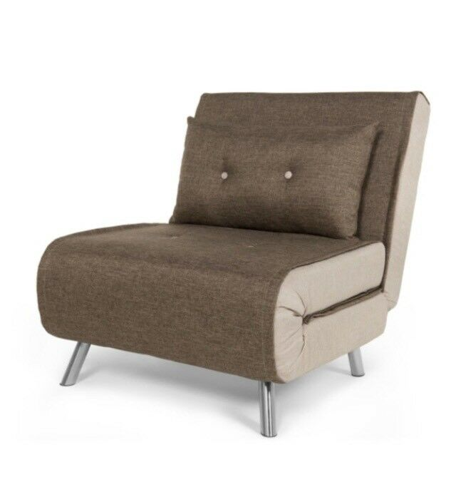 Haru Single Sofa / Chair Bed   Woodland Brown By Made . Com
