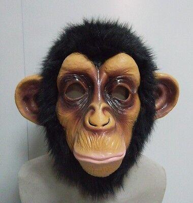 Chimp Monkey Mask Gorilla Ape Bruno Mars Lazy Song Animal Primate Fancy - Chimp Mask